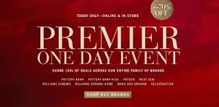 Pottery Barn, West Elm, Williams Sonoma - Premier One Day ... Indiana Beach Amusement Park Coupons Caseys Restaurant Misfit Cosmetics Discount Code Delivery Beer Cafe Pottery Barn Coupon 15 Off Percent Offer Promo Deal Pottery 20 Off A Single Item Today At Glam Glow Coupon Barn Discounts And See Our Latest Sherwinwilliams Paint Promotion Pottery Best Discount Shop Dobre Pumpkin Nights Auburn 27 Mdblowing Hacks Thatll Save You Hundreds Fniture Shipping Coupon Pbteen Pedigree Dog Food Online