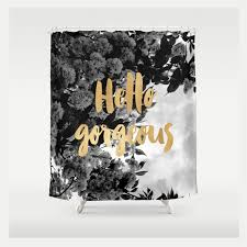 Black And White Flower Shower Curtain by Black And Gold Shower Curtain With Floral Print U2014 Ruby And B