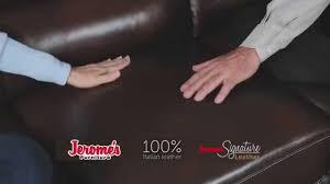 Chateau Dax Leather Sofa Macys by Jerome U0027s Furniture 799 Leather Sofas Youtube