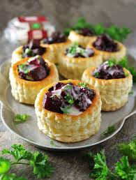 puff pastry canape ideas goat cheese and beet puff pastry bites