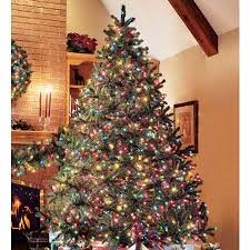 Soft Colored Lights Pre Lit Christmas Tree Artificial Trees Holiday