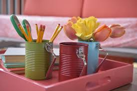 Diy Tin Can Crafts Projects Hgtv Home Office Decorating Ideas Shabby Chic With Homemade Decor