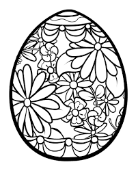 Detailed Easter Egg Coloring Pages 06