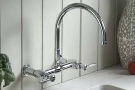 Wall Mounted Kitchen Faucet Single Handle by Wall Mounted Commercial Kitchen Faucet With Spray Mount Sprayer