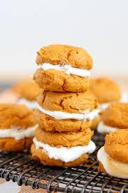 Pumpkin Whoopie Pie Recipe Spice Cake by Pumpkin Cookie U0026 Marshmallow Whoopie Pies Fall Baking
