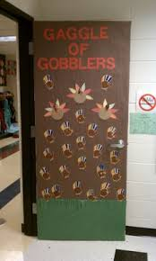 Kindergarten Thanksgiving Door Decorations by Happy Thanksgiving Bulletin Board Finished Day Care