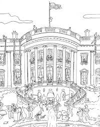 Coloring Page White House Kids Drawing And Pages Marisa