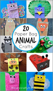 Crafts Paper Bag Puppets Titeres Animals Animales