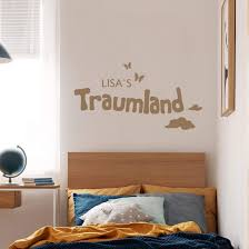 wandtattoo name traumland