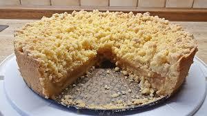 glutenfreier apfel bananenmus kuchen mit vanillepudding