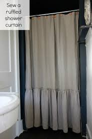 Pottery Barn Curtains 108 by Sew A Ruffled Shower Curtain