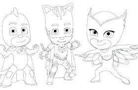 Pj Mask Coloring Pages Printable Masks