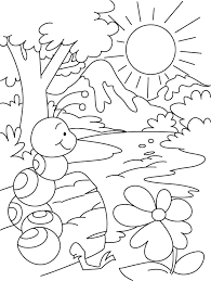 Hill Or Water Everywhere Ant Shelter Coloring Pages