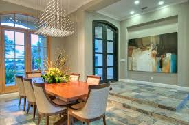 Chandelier Definition Contemporary Dining Room And Arched Doors Art Niche Ceiling Lights Crown Molding Chairs Table Glass Modern