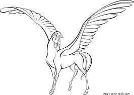 Coloring Pages For Adults Printable Unicorn With Wings Of Horse
