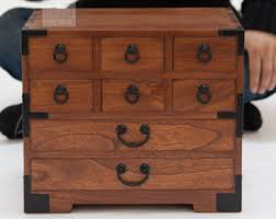Japanese Style Jewelry Box Hand Made With Solid Kiri Wood KB22