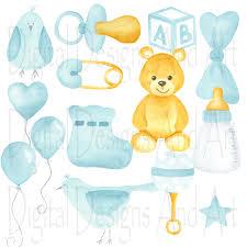Baby boy clipart Watercolor clipart Soft blue boy clipart