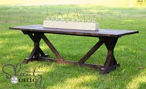 Awesome Diy Dining Table For Only 65 Shanty 2 Chic Within Outdoor Farmhouse Ordinary