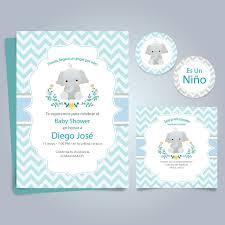 Kit Imprimible Baby Shower Nene Varón Invitacion Elefante 5000