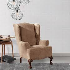 Sure Fit Folding Chair Slipcovers by Sure Fit Royal Diamond Stretch Wing Chair Slipcover Free