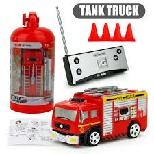 100 Fire Trucks Toys US 1045 27MHz RC Tank Truck 4CH Rechargeable Portable Mini Remote Control Truck Forward Backward Children In RC From