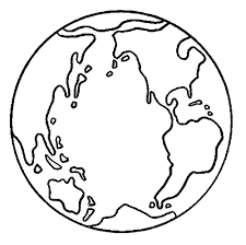 Coloring Page Of Earth
