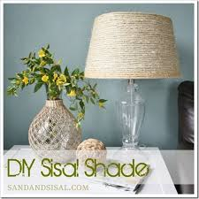 Sisal Lampshade DIY This Post Features A Beachy Chic Project All You Need Is Some And Glue