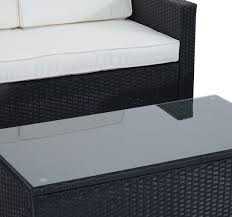 Outsunny Patio Furniture Assembly by Outsunny 4pc Rattan Sectional Patio Furniture Sofa Set Aosom Com