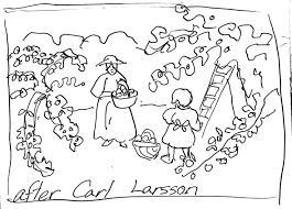 Apple Picking After Carl Larsson Art