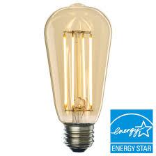 led filament vintage light bulb 600 lumens warm 2200k 7 watt