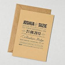 Rustic Wedding Invitation Template With Plain Coffee Brown