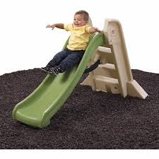 Step2 Tan 2 In 1 by Step2 Naturally Playful Big Folding Slide Green And Tan Walmart Com