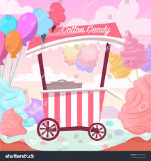 100 Ice Cream Truck Party Sweet Cotton Candy Land Stock Vector Royalty Free
