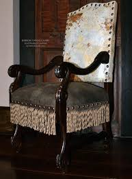 Acid Wash Cowhide Western Dining Chair | Western Furniture ...