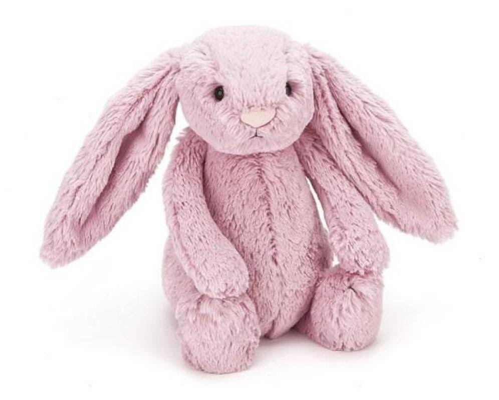 Jellycat Bashful Bunny Toy - Pink Tulip, Small