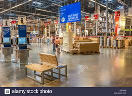 100 Warehouse Home Customers Inside Warehouse Part Of IKEA Home Store Stock Photo