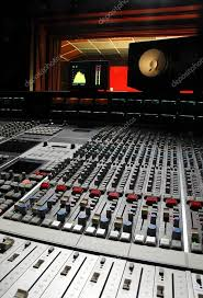 Professional Music Studio Stock Photo