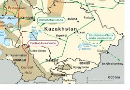 Trunk Lines In Central Asia Including The Center Bukhara Ural BGR TBA And Kazakhstan China Pipelines Construction Of Pipeline Started Late