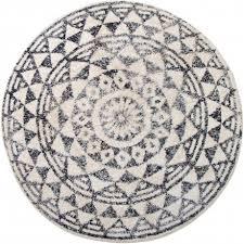 hk living runder teppich für das badezimmer aus baumwolle 120cm durchmesser mit skandi muster