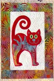 Cat Quilts Cats Meow Quilt Close Up Machine Embroidery Design
