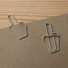 Middle Finger Paperclips For Those Who Hate Paperwork