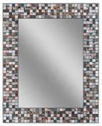 Blue Mosaic Bathroom Mirror by Coppertone Mosaic Bathroom Wall Mirror 24