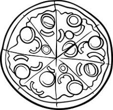 Pizza Colouring Page To Help Them Learn Math And Fractions