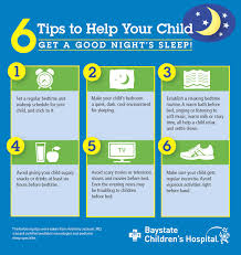 Snacks Before Bed by Infographic 6 Tips To Help Your Child Sleep Baystate Health