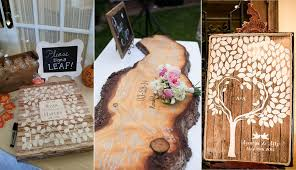 Rustic Wood Country Wedding Guest Book Ideas