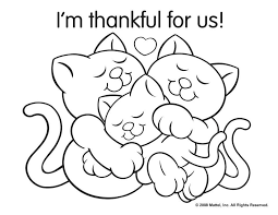 Coloring Pages Thanksgiving Free Printable Happy