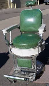 theo a kochs 1910 antique barber chair green porcelain heavy