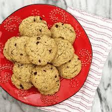Sugar Free Vegan Chocolate Chip Cookies gluten free nut free