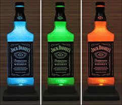 Nuka Cola Quantum Lava Lamp by Jack Daniels Whiskey Color Changing Led Remote Controlled Bottle