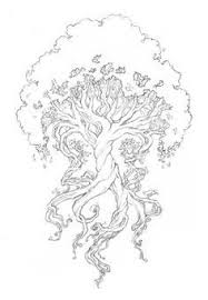 Risultati Immagini Per Yggdrasil Tattoo Norse Find This Pin And More On Adult Coloring Books